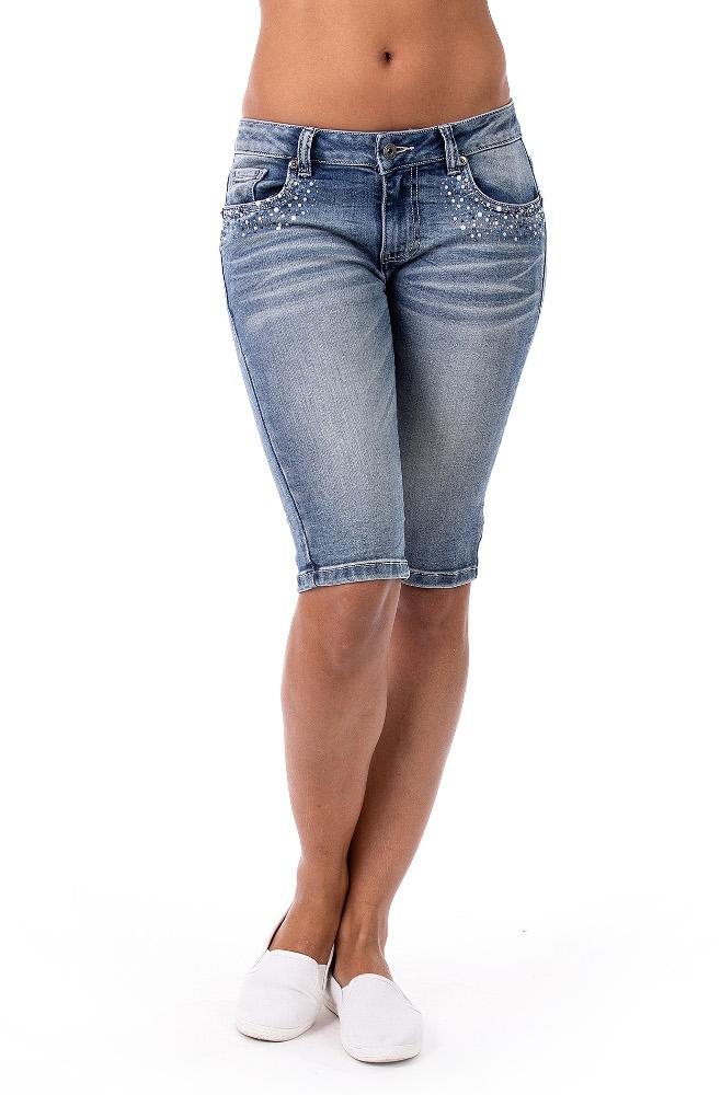 Blue Monkey Jeans Bermuda Shorts  - 1