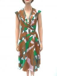 tolles Kleid von DvF Seide schöne Farben