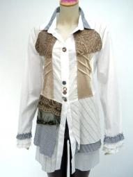 Bottega Bluse von italienischer Designermarke Elisa Cavaletti Bottega
