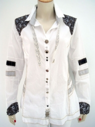 Designer Bluse von Elisa Cavaletti in ausgefallenem Design