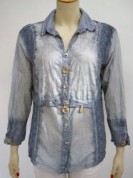 Bluse von Elisa Cavaletti in vintage blau