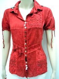 Designer Bluse von Elisa Cavaletti in der Farbe rot
