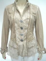 Designer Jacke in der Farbe curry von Elisa Cavaletti
