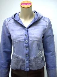 Kapuzenshirt von der Designermarke Bottega in der Farbe blau