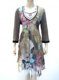 Designerkleid von Elisa Cavaletti in Seide mit Strickarm