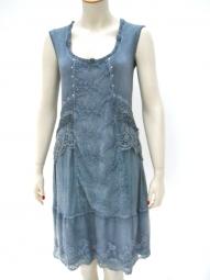 Kleid vom der Designermarke Elisa Cavaletti in der Farbe blau
