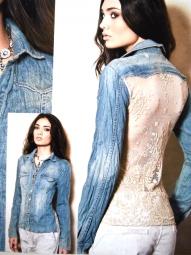 jeansbluse von Elisa Cavaletti